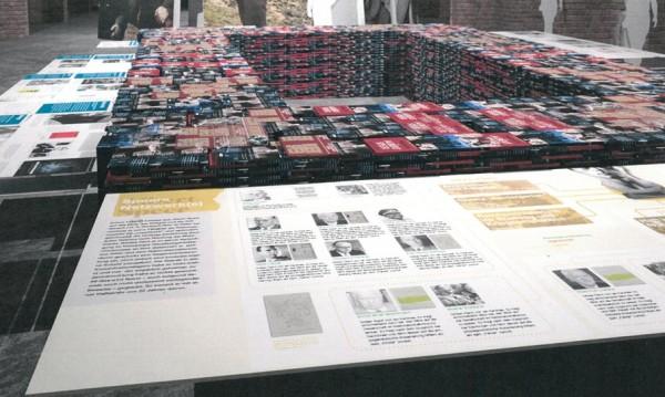 So soll es dann aussehen: Die gespendeten Bücher werden zentral in der Ausstellung platziert. Foto: Rainer Lendler