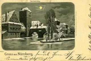 Winternacht am Henkersteg.