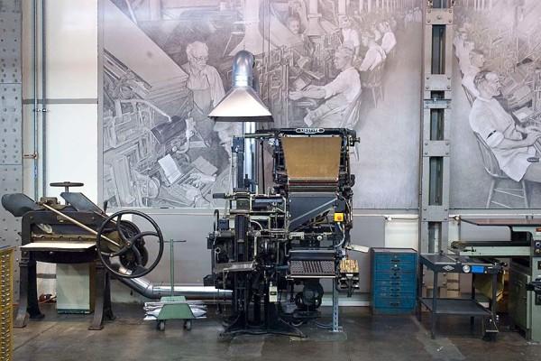 Die Linotype-Setzmaschine. Foto: Erika Moisan