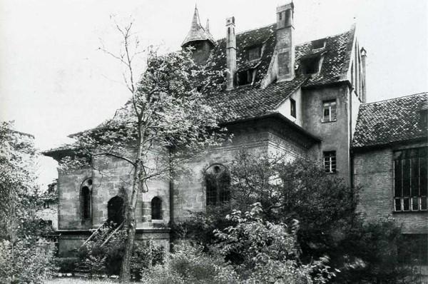 Außenansicht des Hirsvogelsaals 1933. Bildnachweis: Stadtarchiv Nürnberg, StadtAN A 38/D 72 02