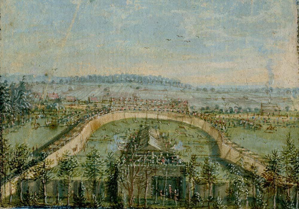 Die Treibjagd des Markgrafen von Ansbach bei Eibach, 1757.